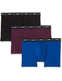 Dim Coton Stretch X3, Boxer Homme, (lot de 3)
