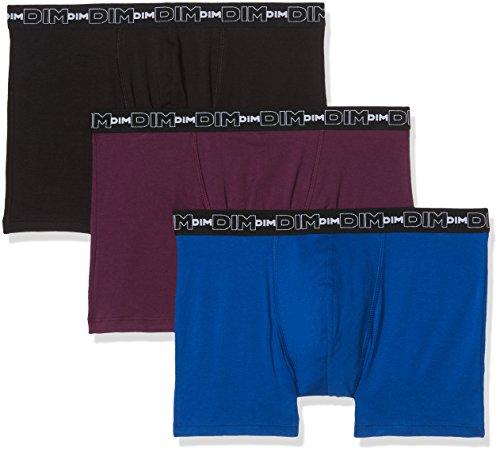 Dim Herren Badehose, 3er Pack Multicolore (Violet Intense/Bleu Atlantique/Noir)
