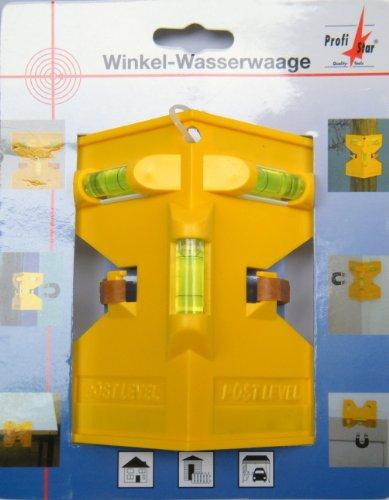 Pfosten-Wasserwaage, Winkel-Wasserwaage zum lotgerechten Setzen von Zaunpfählen