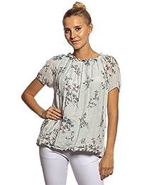 Damen Pullover Shirt Tunika Bluse Glitzer Balon Form Sterne 42 44 46 Italy