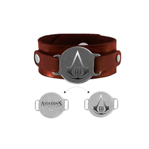 Bioworld-Assassins-Creed-3-Leder-Armband-mit-drehbarer-Plakette-8718526010251