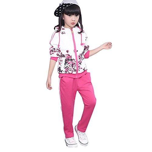 Kids Girls Boys Tracksuit Floral...