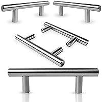 6Pcs Gabinete Manija de la Puerta de Acero Inoxidable Armarios Armarios Tirón de la Manija Conjunto Hogar Muebles de Cocina Hardware Perillas