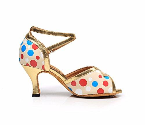 Femme Mystérieuse Chaussures De Danse Latine Avec Semelles Souples Latine Sandales De Danse Chaussures De Couleur