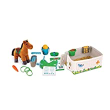 Melissa & Doug Feed & Groom Horse Care Play Set | Pretend Play | Play Set | 3+ | Gift for Boy or Girl