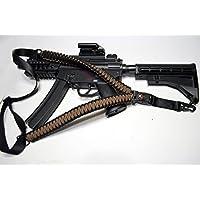 Acido Tactical® 550Paracord corda da paracadute per fucile con bussola e pietra focaia 127cm Airsoft Paintball–(Dark Earth) - Paintball Gun Slings