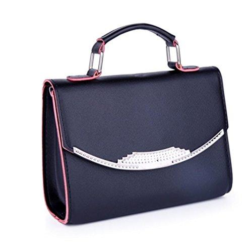 GBT Frauen-Schulter-Beutel-Handtasche Black
