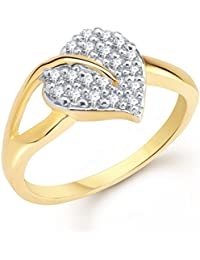 Meenaz Jewellery Gold Plated Rings For Girls Women In Crystal American Diamond CZ Ring Jewellery For Women-Finger...