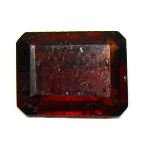CaratYogi Natürlicher Hessonit Loser Edelstein 3 Karat achteckige Form rot facettiert Granat Geburtsstein Januar