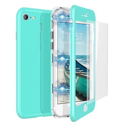 CE-Link Funda iPhone 7 Funda iPhone 8 Cristal Templado