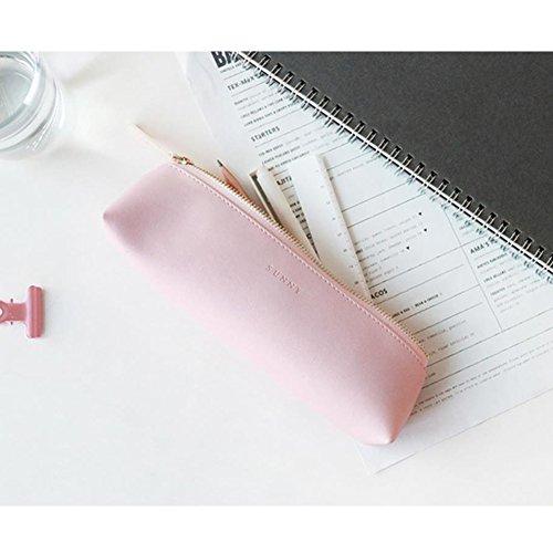 Fyore - Estuche piel cremallera metálica bolígrafo