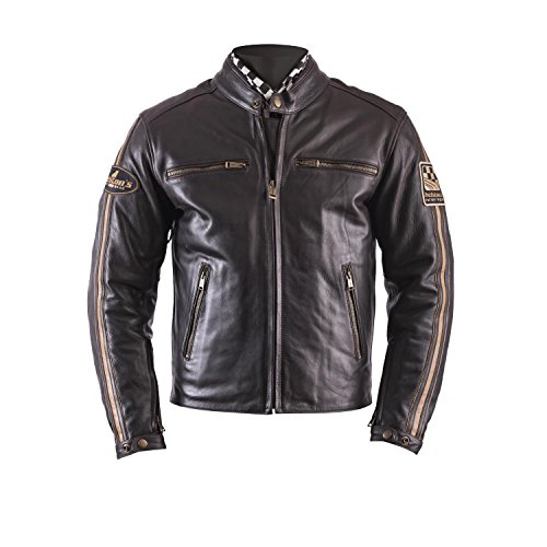 Ace Leder (Helstons Motorradjacken Ace Leder Fender Braun, Braun, L)