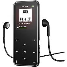 Reproductor MP3, Reproductor de Música MP3 Portátil Bluetooth 8G, Reproductor de Música MP3 con