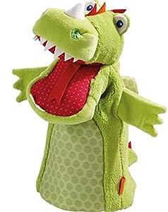 HABA 302525- Marioneta de dragón, marioneta de Mano para niños pequeños