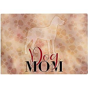 Cadouri Frühstücksbrettchen DOG MOM mit Deutsche Dogge Glasschneidebrett Schneidebrettchen – 28,5 x 20 x 0,4 cm