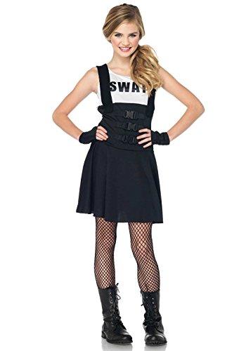 Leg Avenue J83850 - Junior Swat Einsatzleiterin Kostüm, Größe S/M, schwarz (Junior Piraten Kostüm)