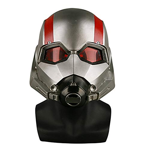 (QQWE Ant-Man Maske Helm Marvel Held Cosplay Maske Film 1: 1 Klon Sammlung Helm Maske Halloween Thema Party Rollenspiel Requisiten,A-OneSize)