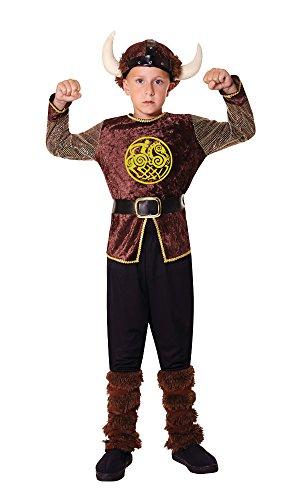 Bristol Novelty Wikinger-Kostüm für Jungen, Größe L, für Kinder im Alter von 7 bis 9 (Schweden Kostüm Für Jungen)