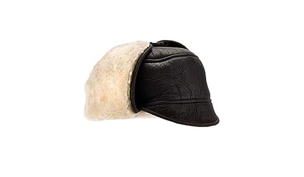9b92dec2ed2 Eastern Counties Leather Mens Harrison Aviator Sheepskin Hat  Amazon.co.uk   Clothing