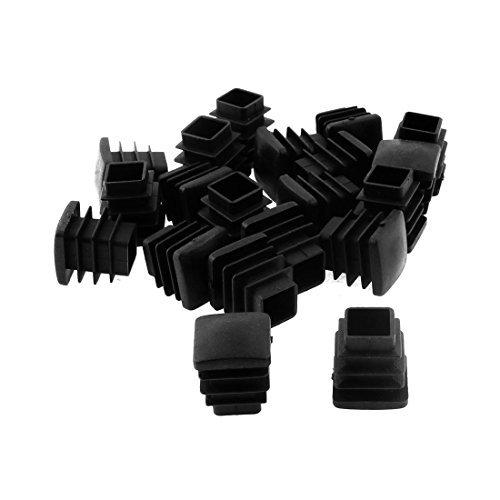 DealMux Platz Tisch Stuhl Beinrohr Rohrfüße Legen Cap 16mmx16mm 20pcs Schwarz