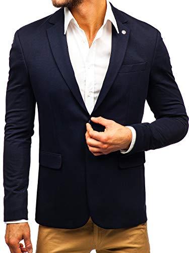 BOLF Herren Sakko Slim Fit Blazer Anzug Elegant Business Style BIBLOS 191060 Dunkelblau L [4D4]