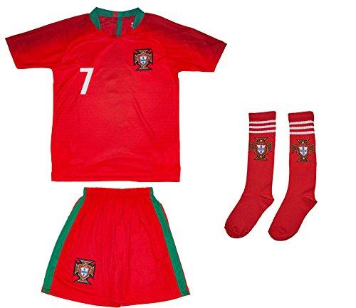 ATB Portugal 18/19 Kinder Trikot und Hose mit Socken - Ronaldo und namenloses Trikot (176, Ronaldo (Heim))