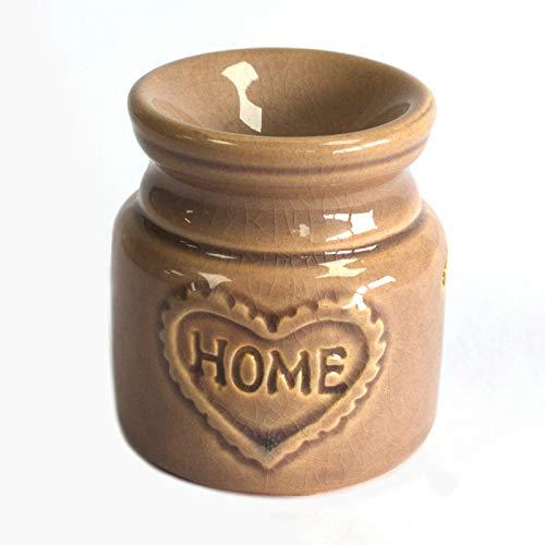 Kleine Grau Keramik Home Sweet Home Öl Brenner. Geeignet für Duft Öle, Räuchermischung, Wachs Tarts Melts, Kerze