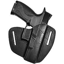 Funda de extracción rápida para pistola Smith & Wesson MP9/MP40/Pro, apta para tiro práctico, de piel 100%