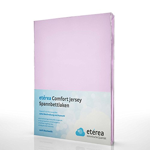 Etérea Comfort Jersey Spannbettlaken - in Viele Farben und Alle Größen - 100% Baumwolle, Flieder 90x200-100x200 cm (Bett-decke)