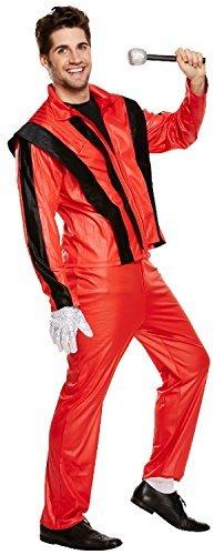Herren Thriller Pop Star Herrenabend Do Nacht Halloween Horror Karneval Kostüm Verkleidung (Erwachsene Jacke Kostüme Thriller)