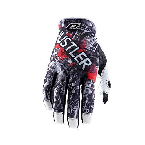 O\'Neal Jump Handschuhe MX DH HUSTLER schwarz/weiss Fahrrad Handschuhe MX DH Cross Dirt Enduro, 0385JH-0, Größe X-Large