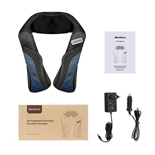 MaxKare Appareil de Massage Sans Fil Shiatsu Masseur Portable pour Dos, Cou, Nuque et Épaules 3D Rotation Bidirectionnelle avec Fonction de ... 12