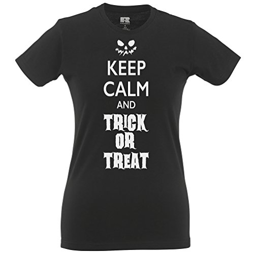 Halten Sie Ruhe und Süßes oder Saures Halloween-Kostüm Lustige Kürbis Frauen (Kostüme Last Halloween Kinder Minute)