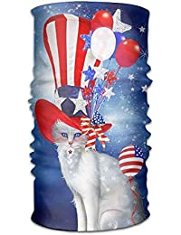 31a6de63738 FAFANIQ Cat In Patriotic Flag Headwear For Men And Women-Yoga Sports Travel  Workout Wide Headbands