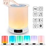 longdafei Haut-parleur Tactile Bluetooth Veilleuse, Lampe Haut-parleur Bluetooth avec...