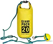 Shaddock Fishing 2-in-1 Sand Anchor Kit - Waterproof Dry Bag,Anchor Rope,Boats Buoy Stainless Steel Clips for