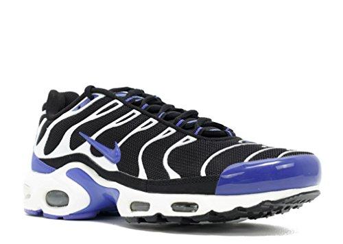 Nike Air Max Plus Txt, Chaussures de Running Entrainement Homme Noir / Violet / Blanc (Black / Persian Violet-White)