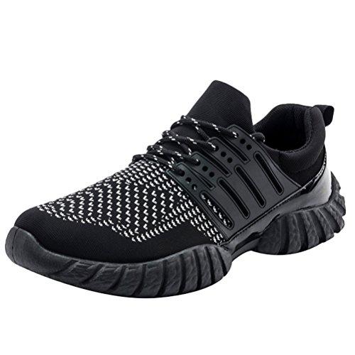 Baskets Vogstyle Hommes Chaussures À Lacets De Course À Pied Sport Style Décontracté 2-blanc