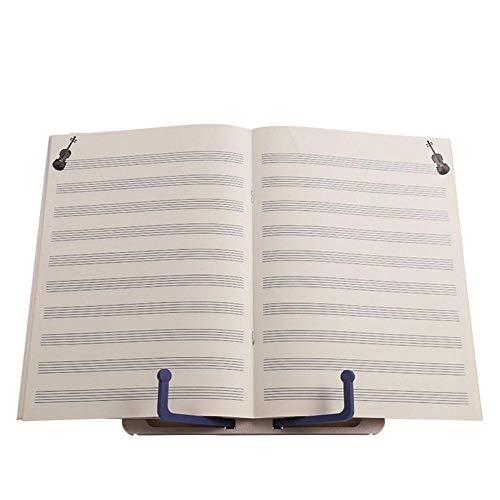 Notenständer Leseständer Tragbar Mini Notenständer Lesen Regale, Desktop Book Ständer Halter, Faltbar Buchstütze Stand, Legen Sie Ein Musikbuch, Während Sie Das Instrument Üben (Keyboard-ständer Und Legen Sie)