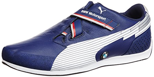 Puma Men's evoSPEED Low BMW Medieval Blue and White Leather Sneakers - 10UK/India (44.5EU)  available at amazon for Rs.4899