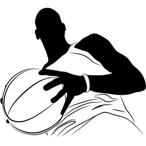 (Mhdxmp Basketball Player Vinyl Wandaufkleber Porträt Amerikanischen Sport Wandaufkleber Gym Home Decor Kunst Aufkleber Neuheiten Wandbild 44 * 50 Cm)