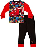 """Pigiama a maniche lunghe e pantaloni lunghi, motivo: personaggio """"McQueen"""" del film Disney """"Cars"""", per bambini dai 2ai 7anni, vita: 40 cm Red 2-3 Anni"""