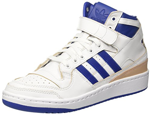adidas Herren Forum Mid (Wrap) Basketballschuhe, Mehrfarbig (Ftwr White/collegiate Royal/ftwr White), 44 2/3 EU