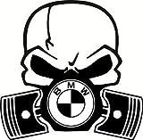 BMW Skull Kolben Replica Gas Maske Auto Vinyl Aufkleber 1234567Serie Funny UK
