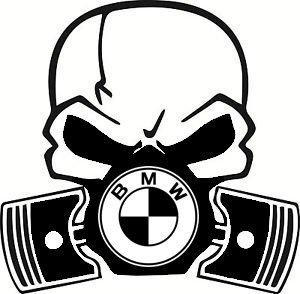 BMW Calavera Máscara de gas de pistón coche Vinilo...