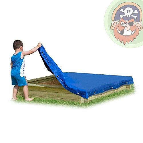 Abdeckplane blau für Sandkasten 150 x 150 cm Sandkastenabdeckung von Gartenpirat®