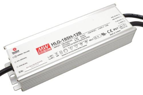 Controlador LED de intensidad regulable fuente de alimentación LED MeanWell HLG-185H - 12B 185 W 12 V/DC 15,42 A DE suministro constante