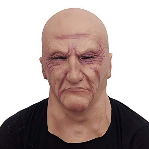 JASNO Neuheit Latex Gruselig Horror Alter Mann Kopf Masken Gesicht Schrecklich Für Halloween Kostüm Party
