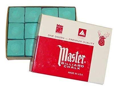Original USA Billardkreide Master, 12 Stück im Karton: Grün
