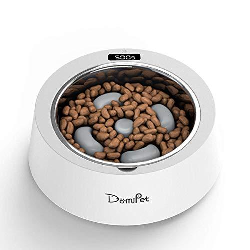 Domipet Anti Schling Napf Hundenapf Fressnäpfe für Hunde,Langsame Fütterung Rutschfest Interaktiver Hunde Napf,Langlebige Umweltfreundliche Intelligente Wiegende Fütterungsschüssel des Edelstahls